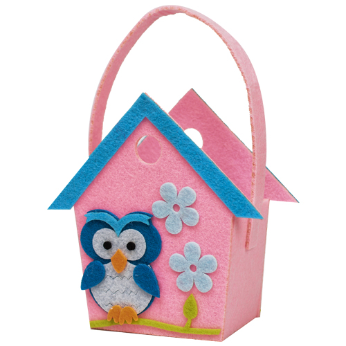 DIY Owl House Felt Bag