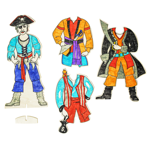 Dress-Up Wood Pirate Set