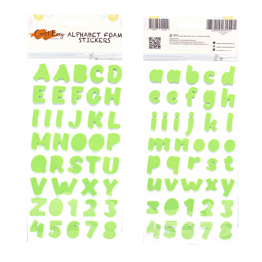 Apple Green Alphabet Foam Stickers