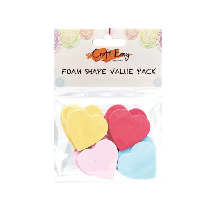 Hearts Foam Shape Stickers