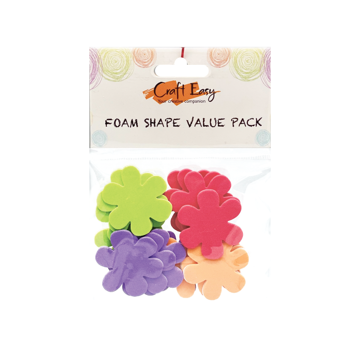 Flower Foam Shape Stickers